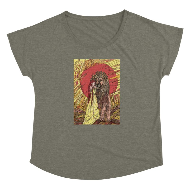 lion sign Women's Scoop Neck by Eii's Artist Shop