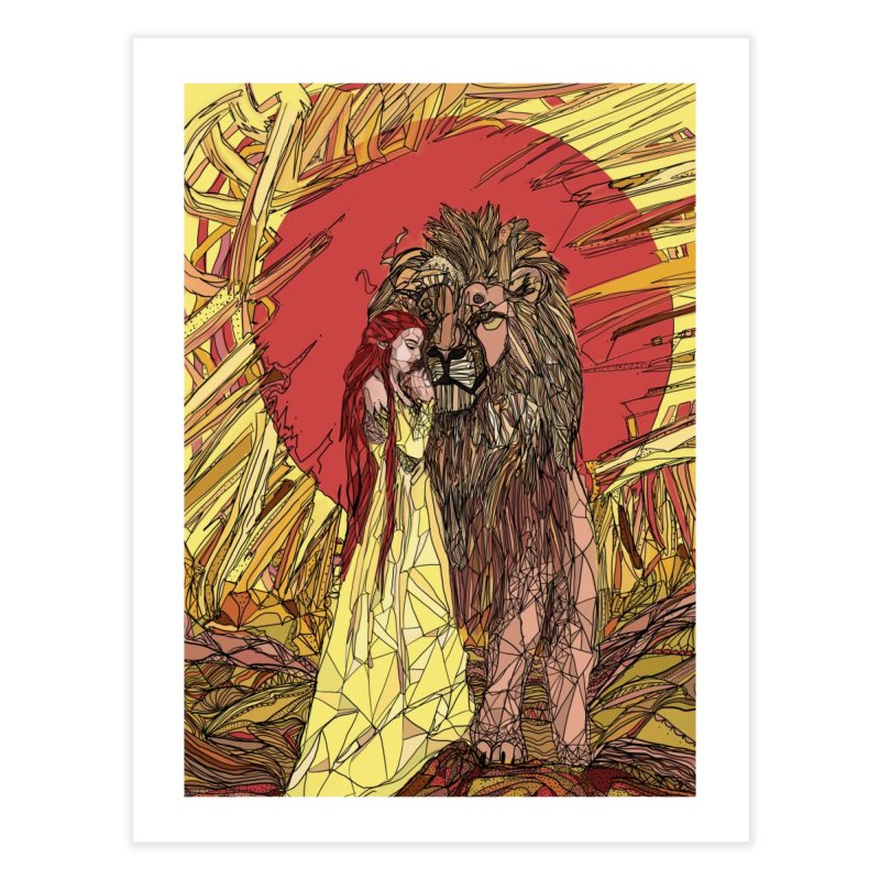 lion sign Home Fine Art Print by Eii's Artist Shop