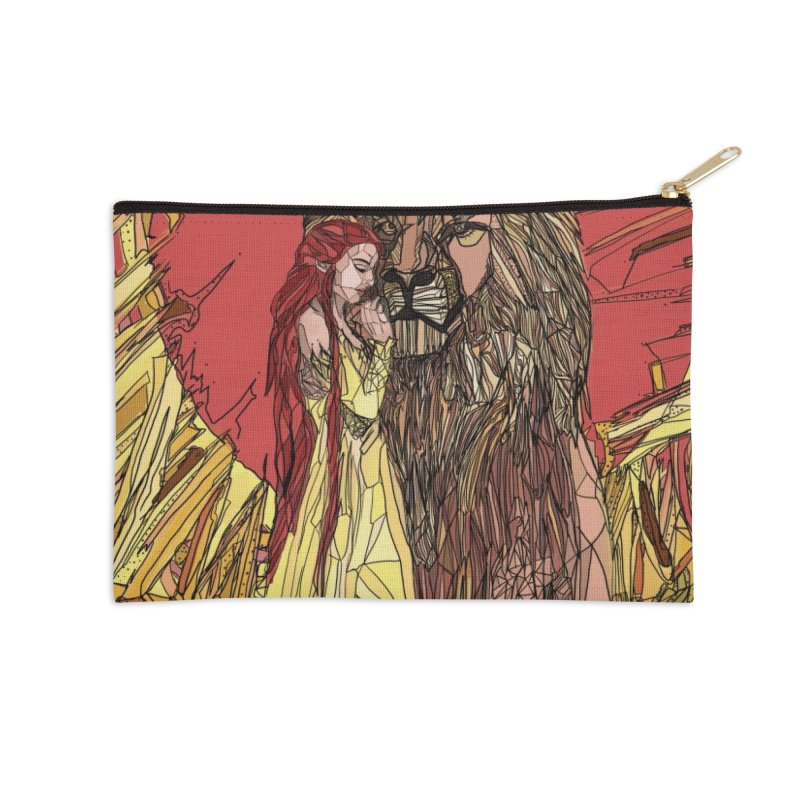 lion sign Accessories Zip Pouch by Eii's Artist Shop