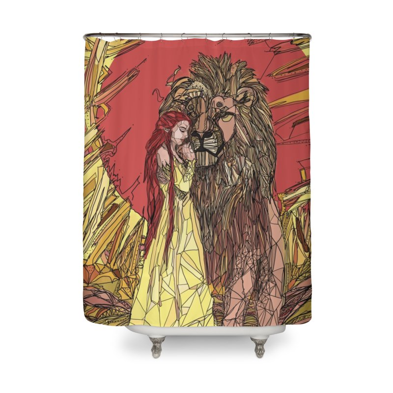 lion sign Home Shower Curtain by Eii's Artist Shop