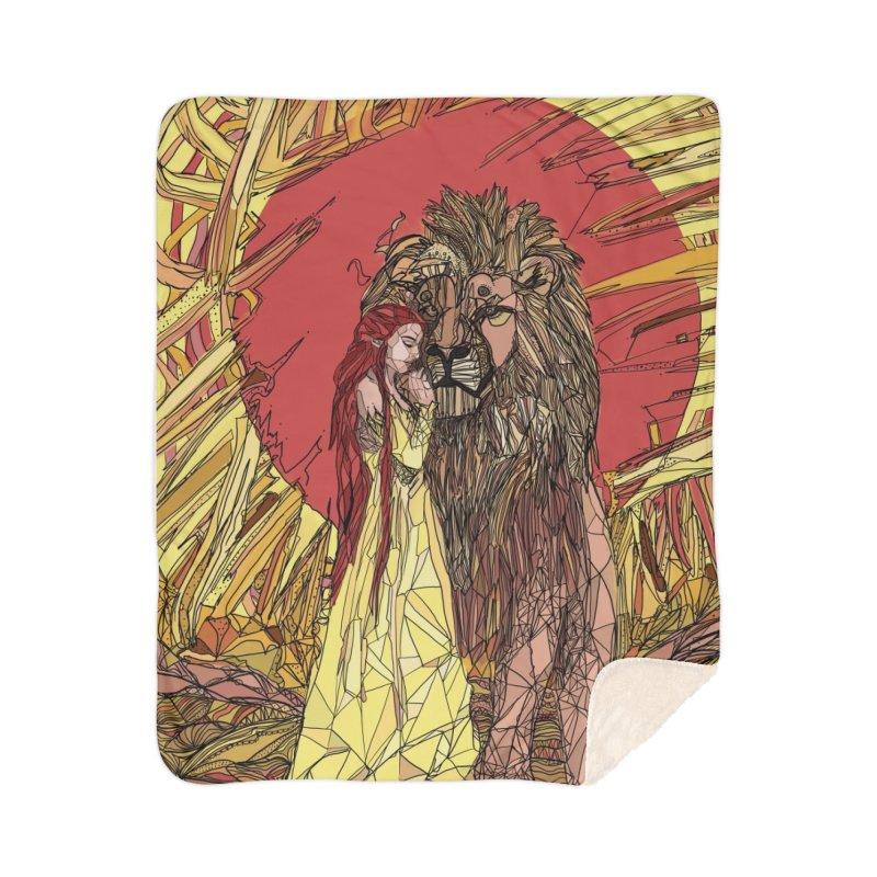 lion sign Home Sherpa Blanket Blanket by Eii's Artist Shop