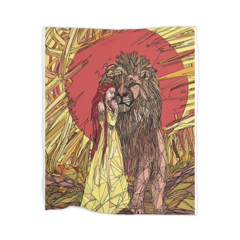 lion sign Home Blanket by Eii's Artist Shop