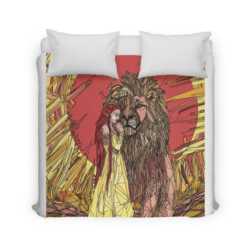 lion sign Home Duvet by Eii's Artist Shop