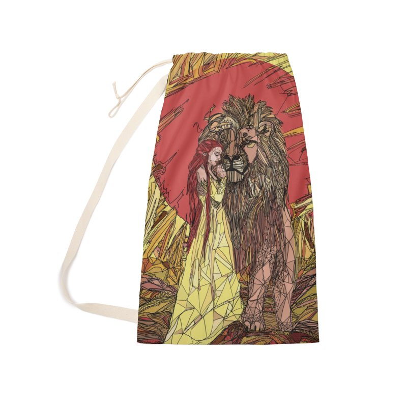 lion sign Accessories Laundry Bag Bag by Eii's Artist Shop