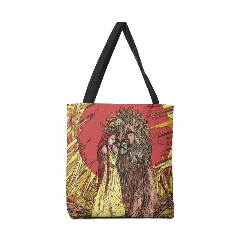 lion sign Accessories Bag by Eii's Artist Shop