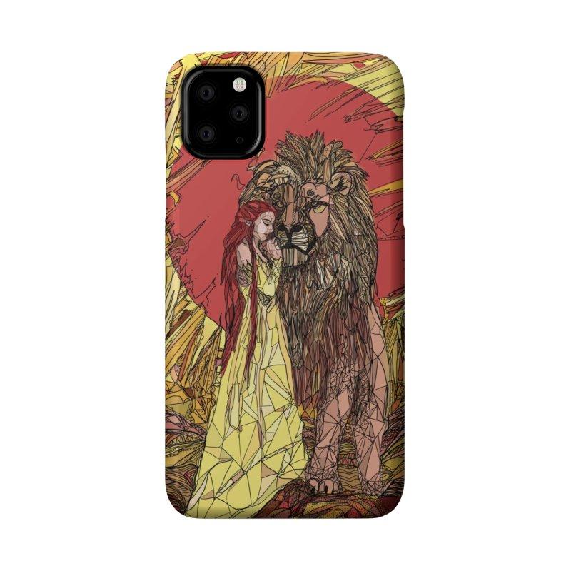 lion sign Accessories Phone Case by Eii's Artist Shop