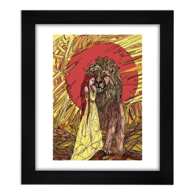 lion sign Home Framed Fine Art Print by Eii's Artist Shop