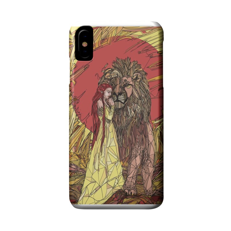 lion sign Accessories Phone Case by Eii's Artist Shop