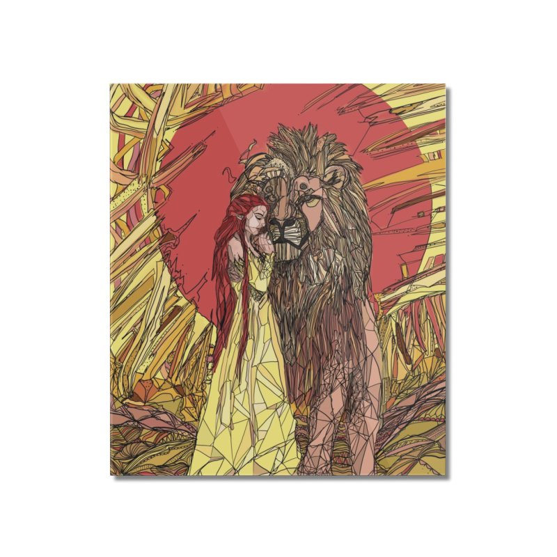 lion sign Home Mounted Acrylic Print by Eii's Artist Shop