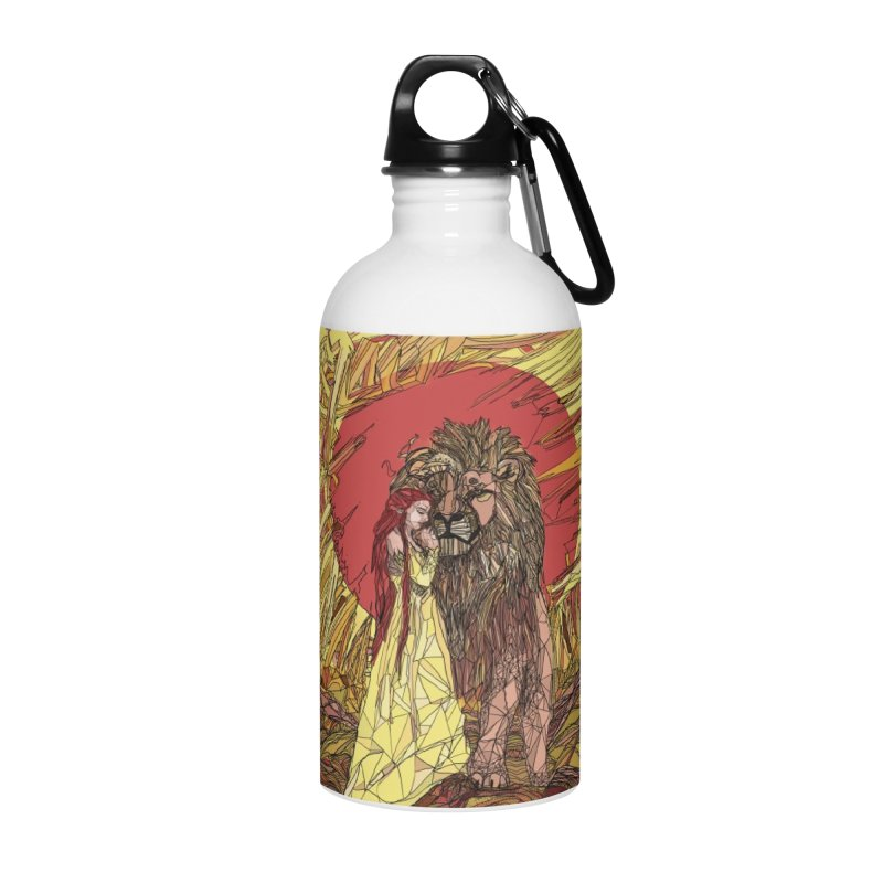 lion sign Accessories Water Bottle by Eii's Artist Shop