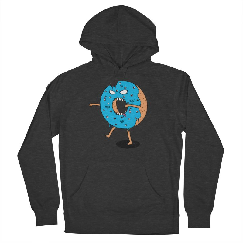 Walking Donut Women's French Terry Pullover Hoody by eikwox's Artist Shop