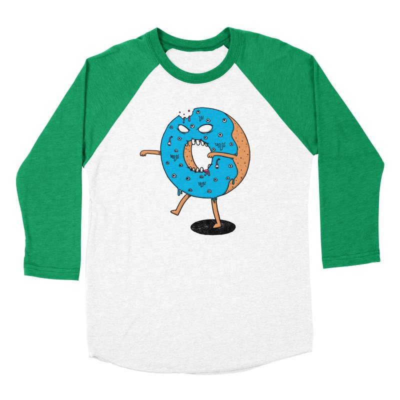Walking Donut Women's Baseball Triblend T-Shirt by eikwox's Artist Shop