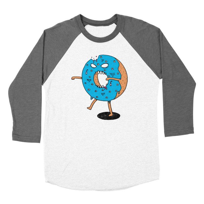 Walking Donut Men's Baseball Triblend T-Shirt by eikwox's Artist Shop