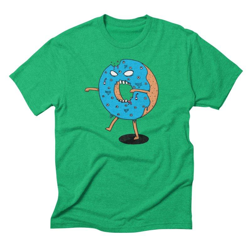 Walking Donut Men's Triblend T-shirt by eikwox's Artist Shop