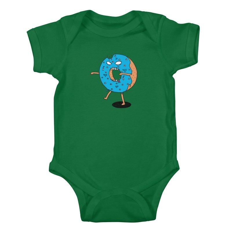Walking Donut Kids Baby Bodysuit by eikwox's Artist Shop