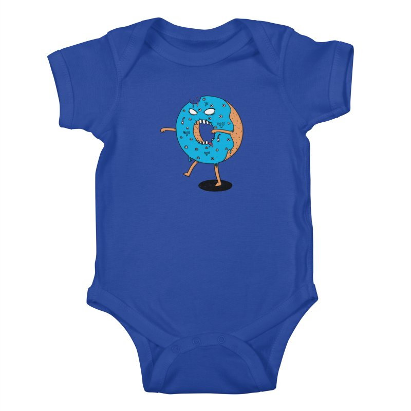Walking Donut Kids Baby Bodysuit by eikwox's Artist Shop
