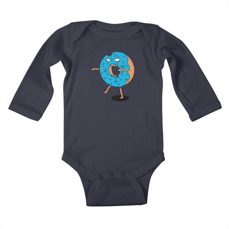 Walking Donut Kids Baby Longsleeve Bodysuit by eikwox's Artist Shop