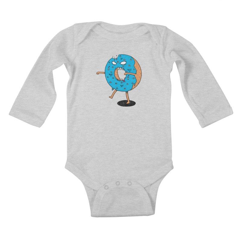 Walking Donut Kids Baby Longsleeve Bodysuit by eikwox's Artist Shop
