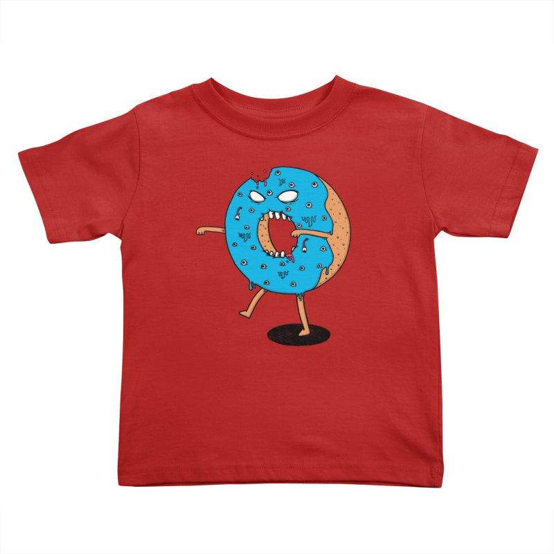 Walking Donut Kids Toddler T-Shirt by eikwox's Artist Shop