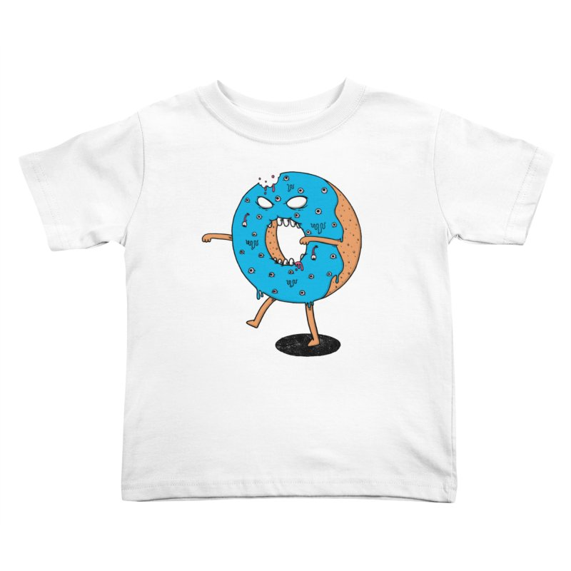Walking Donut Kids Toddler T-Shirt by eikwox's Artist Shop