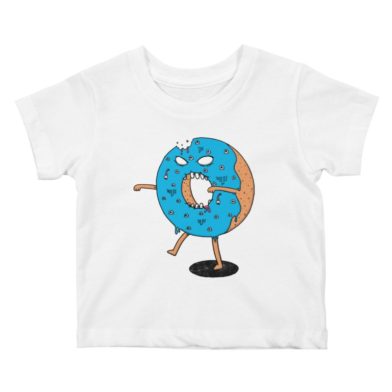 Walking Donut Kids Baby T-Shirt by eikwox's Artist Shop