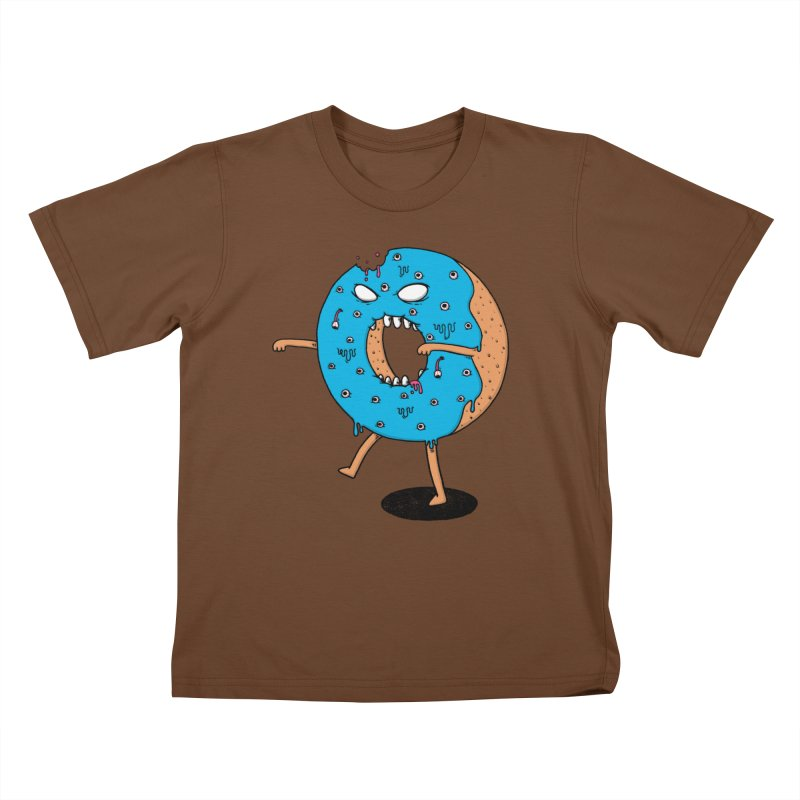 Walking Donut Kids T-shirt by eikwox's Artist Shop
