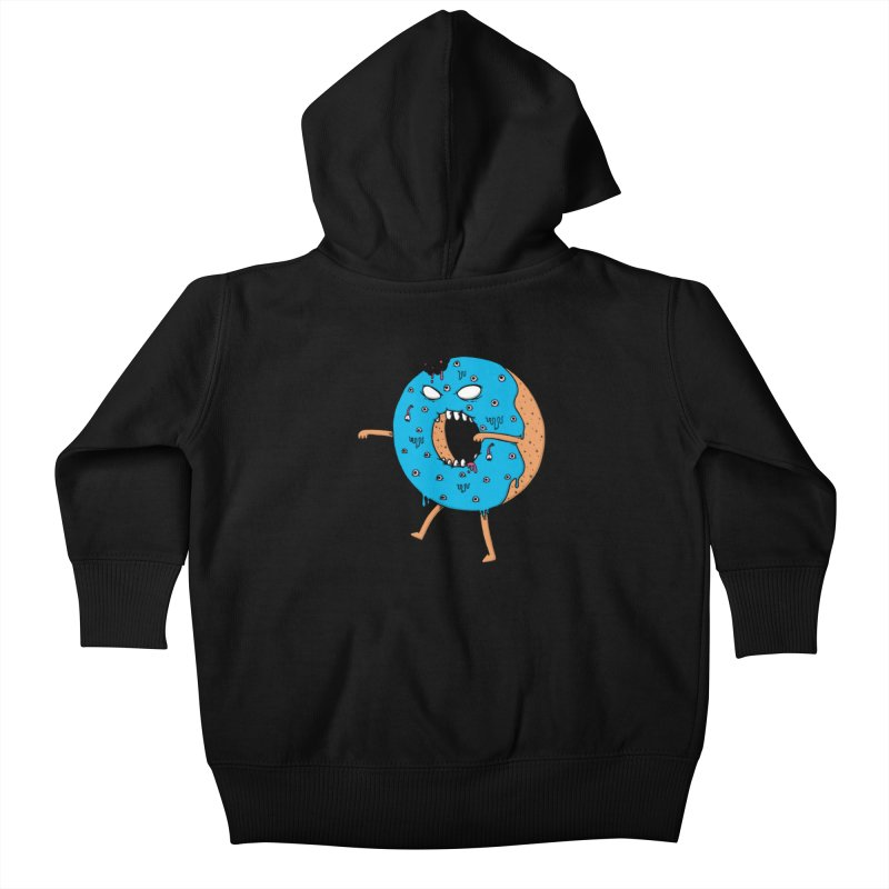Walking Donut Kids Baby Zip-Up Hoody by eikwox's Artist Shop