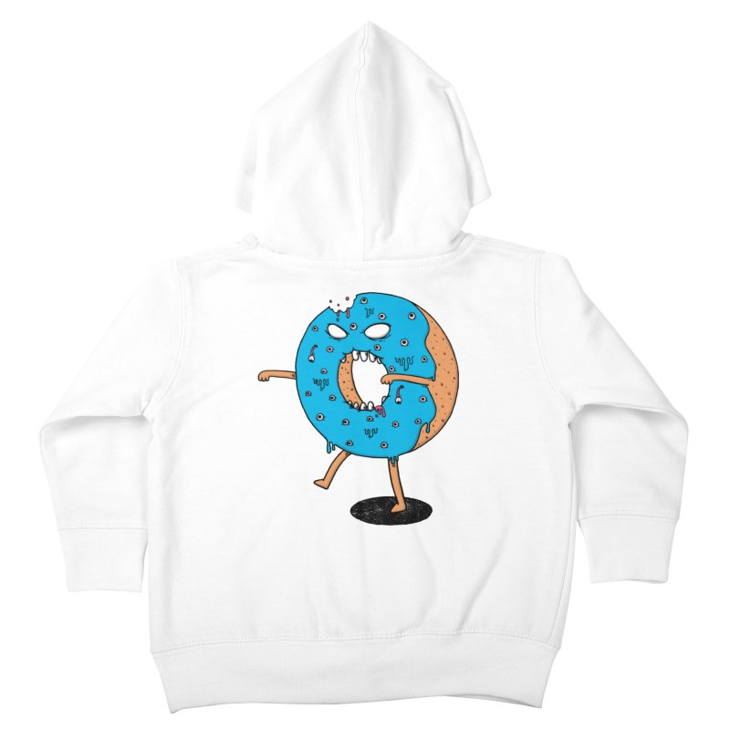 Walking Donut Kids Toddler Zip-Up Hoody by eikwox's Artist Shop