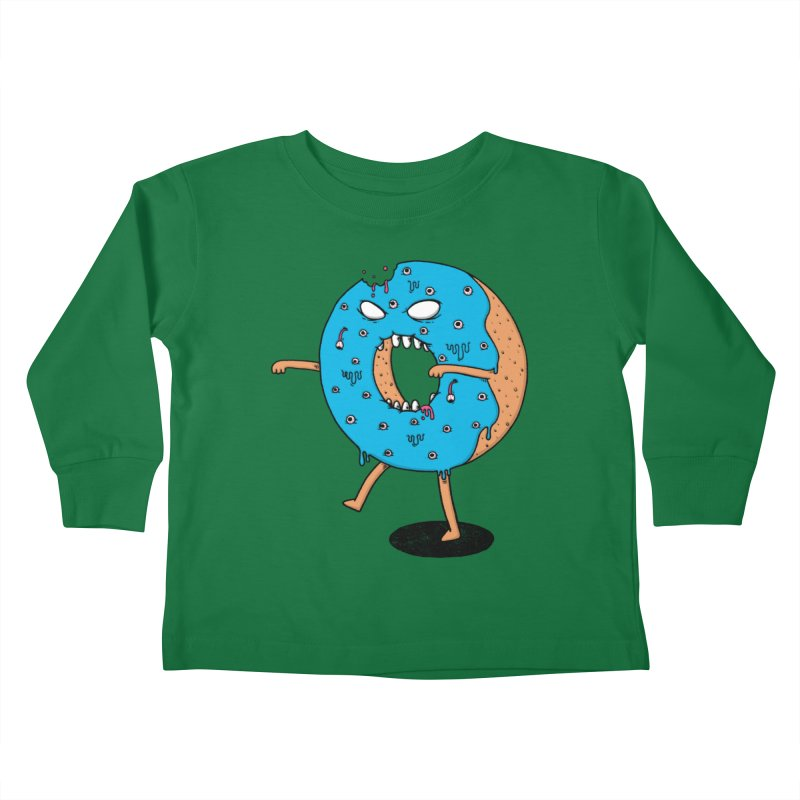 Walking Donut Kids Toddler Longsleeve T-Shirt by eikwox's Artist Shop