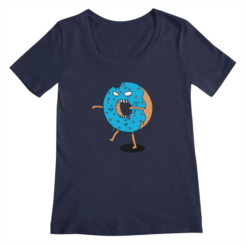 Walking Donut Women's Scoopneck by eikwox's Artist Shop