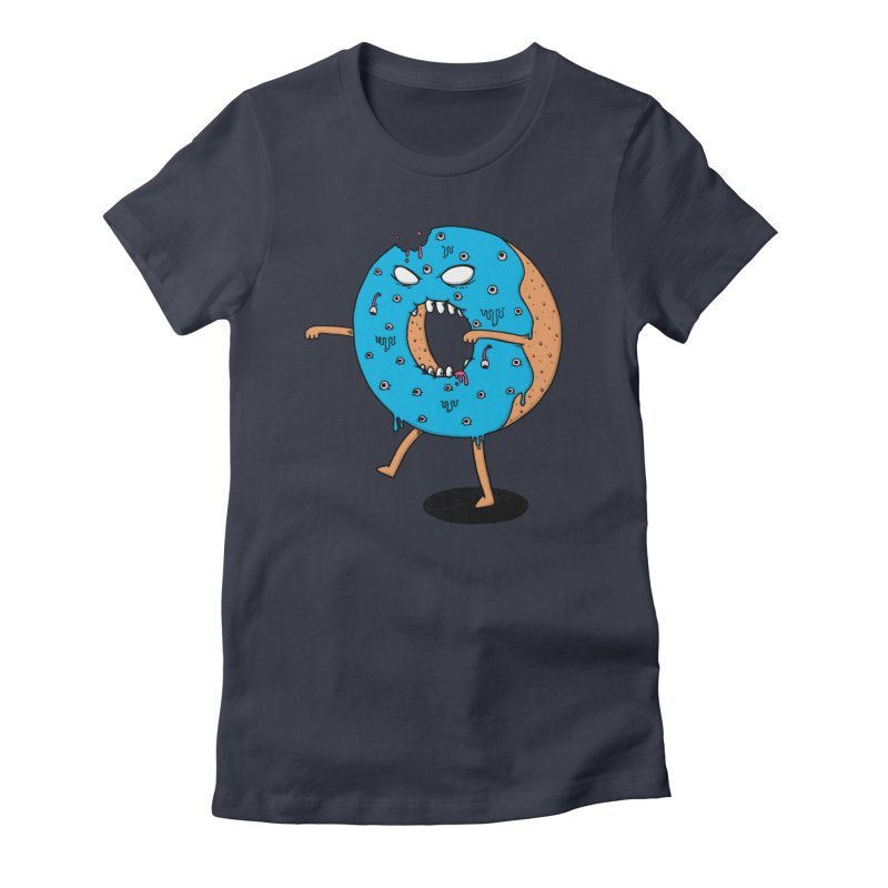 Walking Donut Women's Fitted T-Shirt by eikwox's Artist Shop