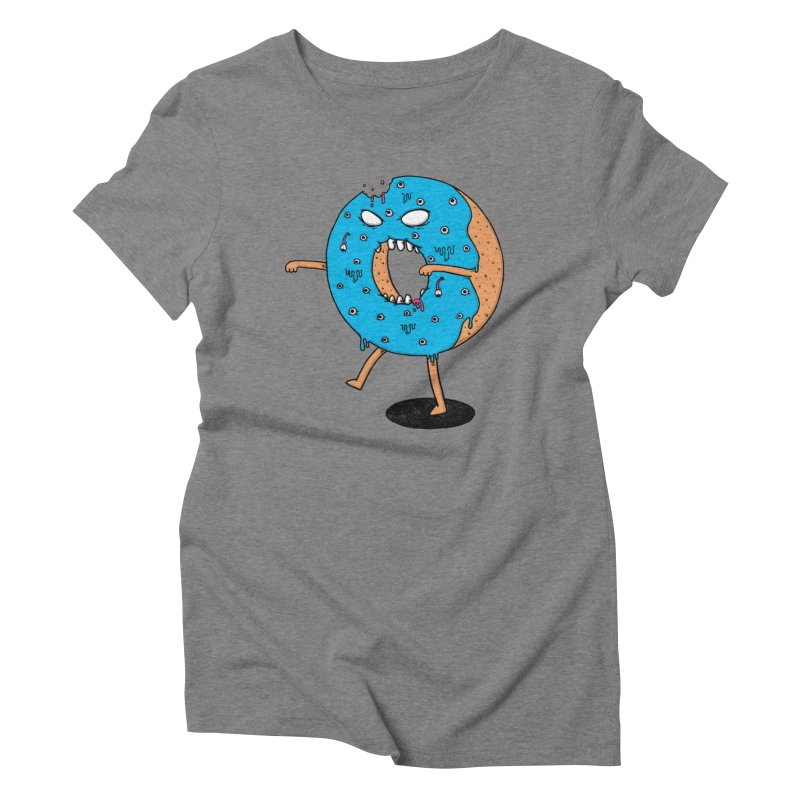 Walking Donut Women's Triblend T-shirt by eikwox's Artist Shop
