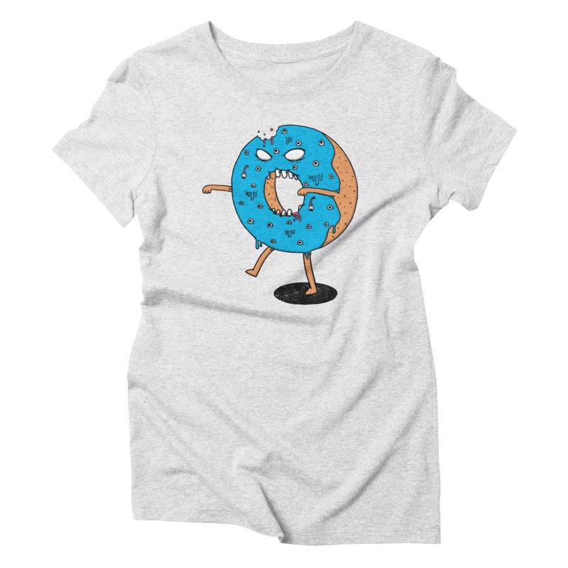 Walking Donut Women's Triblend T-shirt by eikwox's Artist Shop