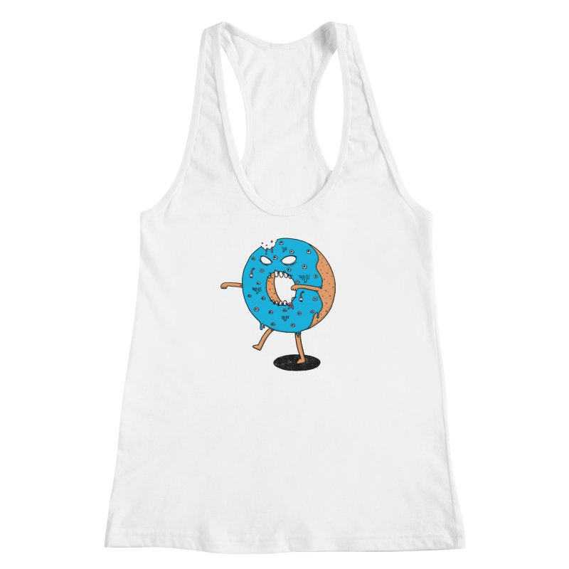 Walking Donut Women's Racerback Tank by eikwox's Artist Shop