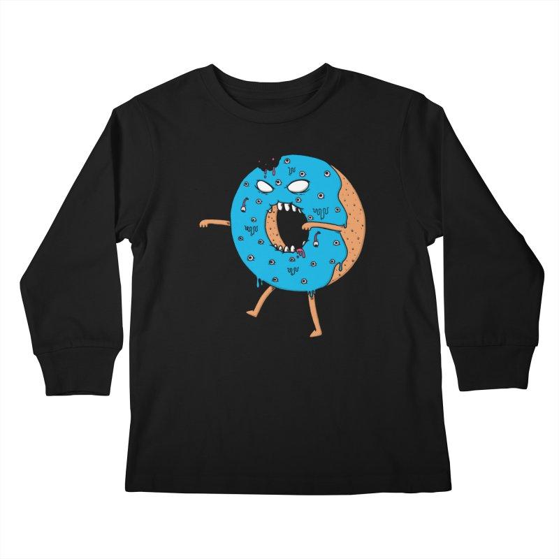 Walking Donut Kids Longsleeve T-Shirt by eikwox's Artist Shop