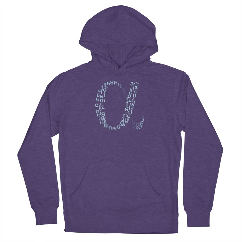 Alphabet Women's French Terry Pullover Hoody by eikwox's Artist Shop