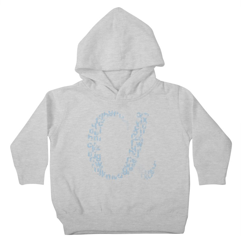 Alphabet Kids Toddler Pullover Hoody by eikwox's Artist Shop