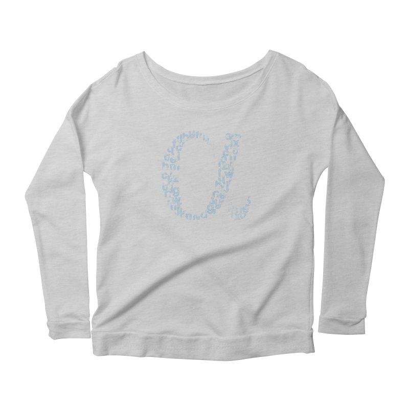 Alphabet Women's Scoop Neck Longsleeve T-Shirt by eikwox's Artist Shop