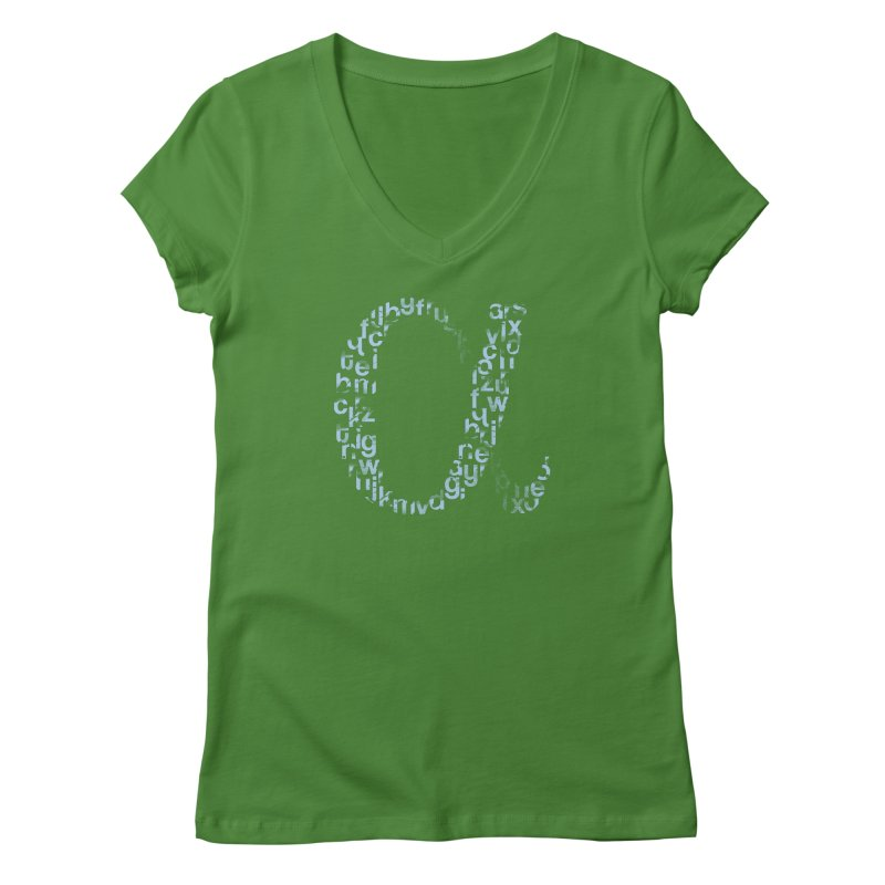 Alphabet Women's V-Neck by eikwox's Artist Shop