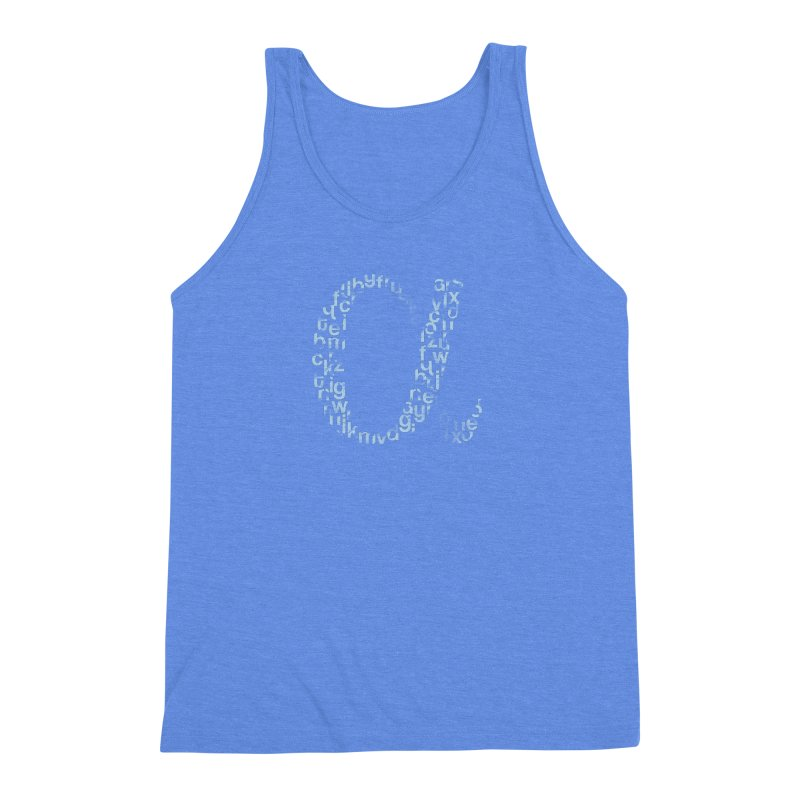 Alphabet Men's Triblend Tank by eikwox's Artist Shop