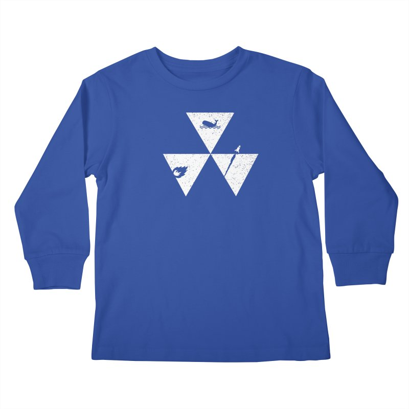 3 Elements Kids Longsleeve T-Shirt by eikwox's Artist Shop