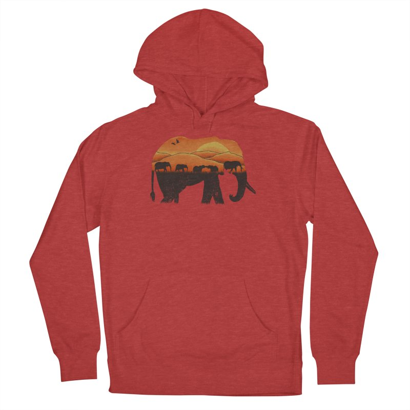 African Elephant Women's French Terry Pullover Hoody by eikwox's Artist Shop