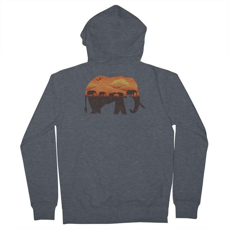 African Elephant Men's Zip-Up Hoody by eikwox's Artist Shop