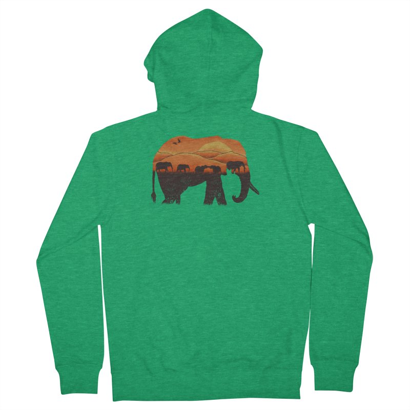 African Elephant Men's French Terry Zip-Up Hoody by eikwox's Artist Shop