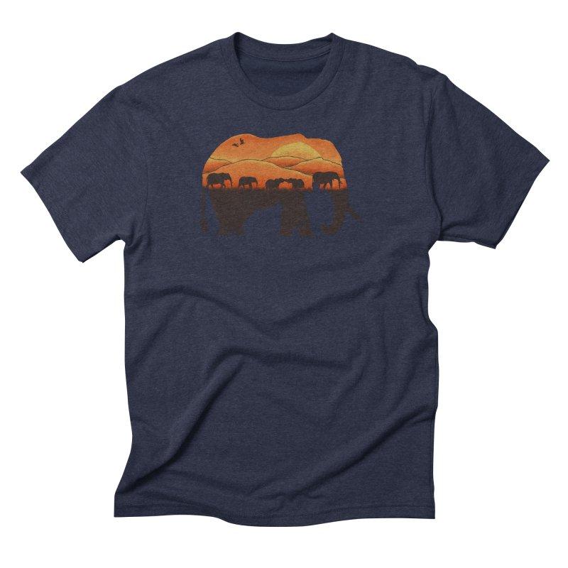 African Elephant Men's Triblend T-shirt by eikwox's Artist Shop