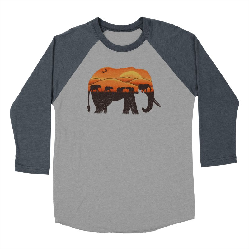African Elephant Women's Baseball Triblend Longsleeve T-Shirt by eikwox's Artist Shop