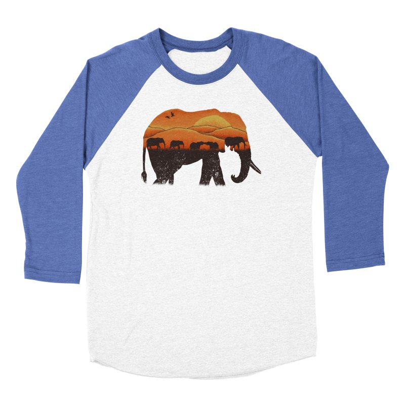 African Elephant Men's Baseball Triblend T-Shirt by eikwox's Artist Shop