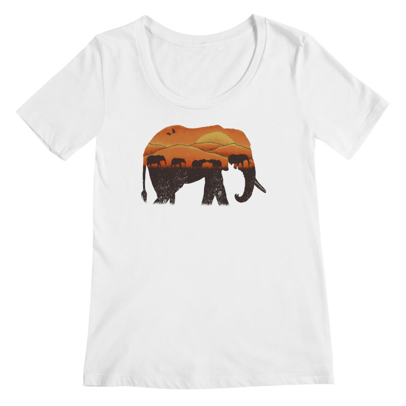 African Elephant Women's Scoopneck by eikwox's Artist Shop
