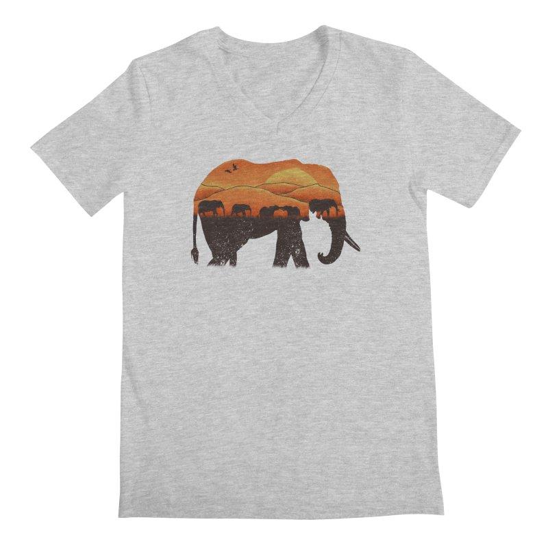 African Elephant Men's V-Neck by eikwox's Artist Shop