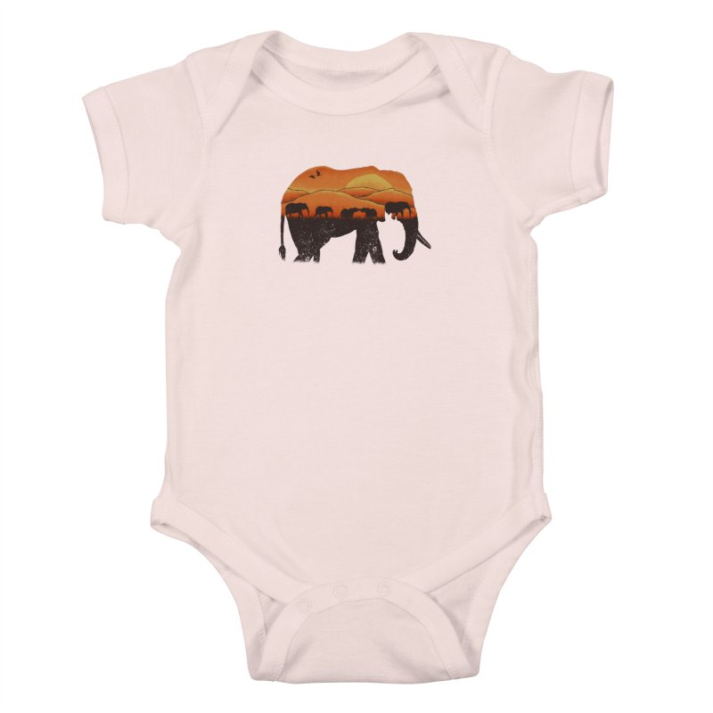 African Elephant Kids Baby Bodysuit by eikwox's Artist Shop